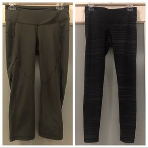 Lot of 2 Old Navy Active Leggings Cropped Capris M